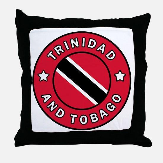 Cute Trini flag Throw Pillow