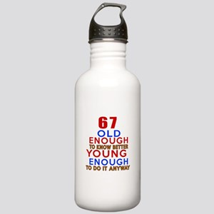 67 Old Enough Young En Stainless Water Bottle 1.0L