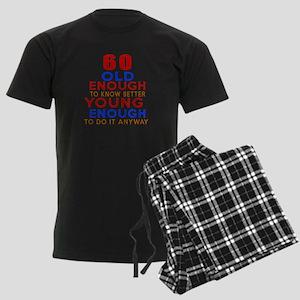 60 Old Enough Young Enough Bir Men's Dark Pajamas