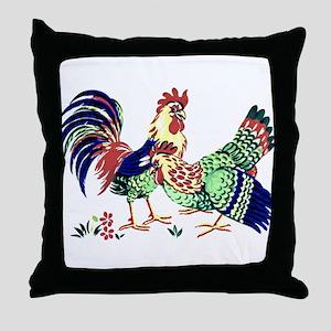 Hen & Rooster #1 - Throw Pillow