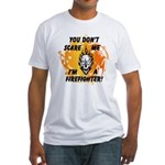 Firefighter Skull and Flames Fitted T-Shirt