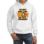Firefighter Skull and Flames Hooded Sweatshirt