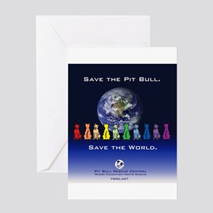 Save the Pit Bull Greeting Card