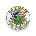 """Hemp for Victory 3.5"""" Button"""