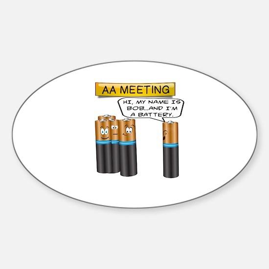 Funny Battery Sticker (Oval)