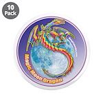 """Magic Moon Dragon 3.5"""" Button (10 pack)"""
