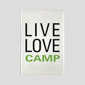 Live Love Camp Rectangle Magnet