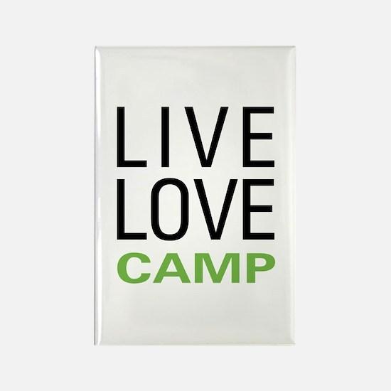Live Love Camp Rectangle Magnet (10 pack)