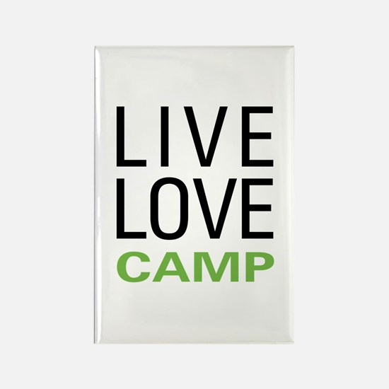 Live Love Camp Rectangle Magnet (100 pack)