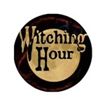"""Witching Hour 3.5"""" Button"""