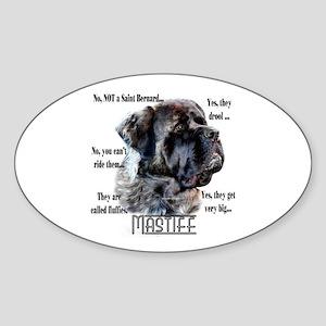 Mastiff(fluffy)FAQ Oval Sticker