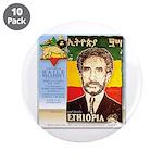 "Haile Selassie I 3.5"" Button (10 pack)"