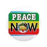 """Rasta Peace Now 3.5"""" Button (100 pack)"""
