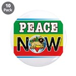 """Rasta Peace Now 3.5"""" Button (10 pack)"""