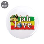 "Jah Love 3.5"" Button (10 pack)"