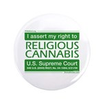 "Religious Cannabis 3.5"" Button (100 pack)"