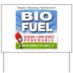 Bio Fuel Clean Yard Sign