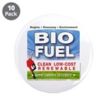 "Bio Fuel Clean 3.5"" Button (10 pack)"