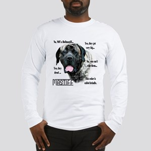 Mastiff(brindle)FAQ Long Sleeve T-Shirt