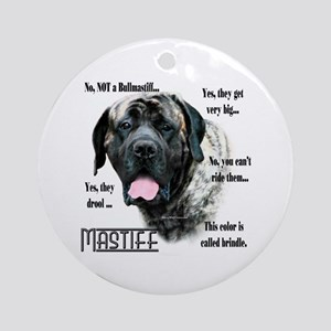Mastiff(brindle)FAQ Ornament (Round)