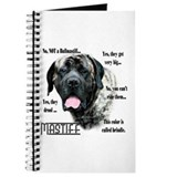 Brindle mastiff Journals & Spiral Notebooks