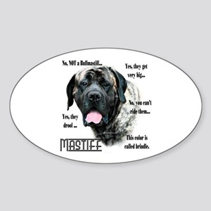 Mastiff(brindle)FAQ Oval Sticker