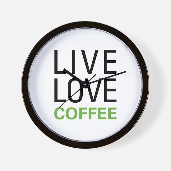 Live Love Coffee Wall Clock