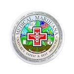 """Medical Marijuana 3.5"""" Button (100 pack)"""