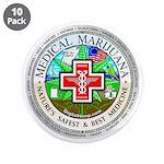 """Medical Marijuana 3.5"""" Button (10 pack)"""