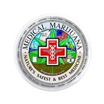 """Medical Marijuana 3.5"""" Button"""