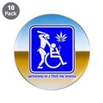 """Thug Free America 3.5"""" Button (10 pack)"""