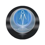 "artist michaelm 3.5"" Button (100 pack)"