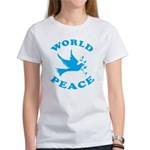 World Peace, Peace and Love. Women's T-Shirt