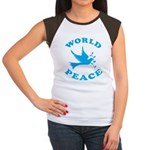 World Peace, Peace and Love. Women's Cap Sleeve T-