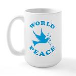 World Peace, Peace and Love. Large Mug