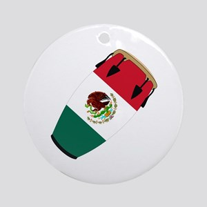 Conga Mexico Flag Band Ornament (Round)