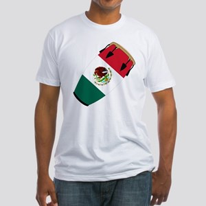 Conga Mexico Flag Band Fitted T-Shirt