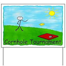 Cornhole Tournament Yard Sign