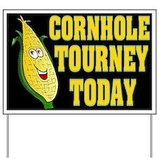 Cornhole Tourney Today Yard Sign
