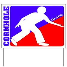 Cornhole All Star Yard Sign