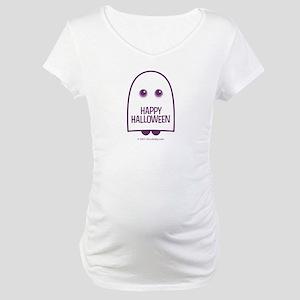 Happy Halloween Ghost Maternity T-Shirt