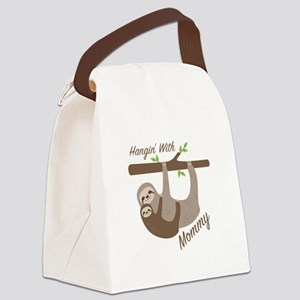 Hanging With Mommy Canvas Lunch Bag