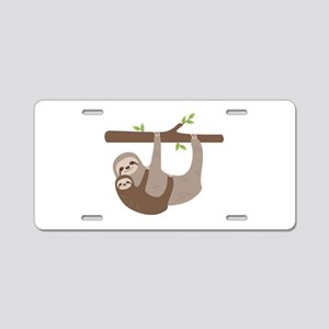 Sloths In Tree Aluminum License Plate