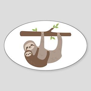 Sloths In Tree Sticker