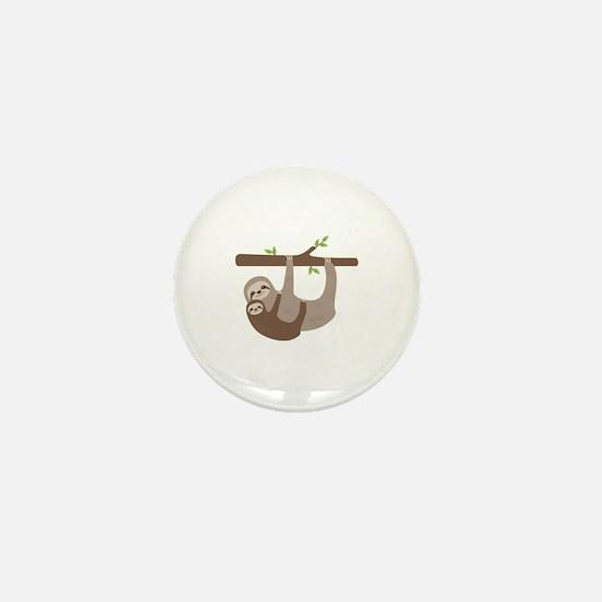Sloths In Tree Mini Button