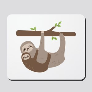 Sloths In Tree Mousepad