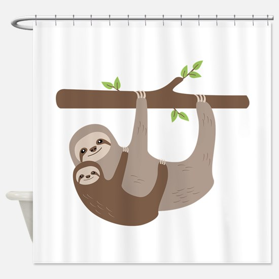 Sloths In Tree Shower Curtain
