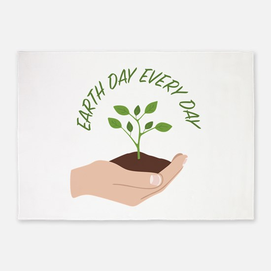 Earth Day 5'x7'Area Rug