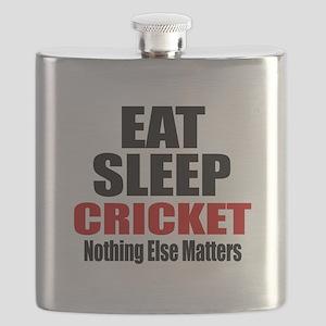 Eat Sleep Cricket Flask