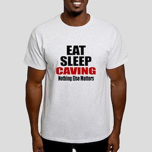 Eat Sleep Caving Light T-Shirt